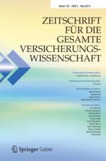Weyer Rechtsanwaltsgesellschaft mbh: Publikationen Cover Zeitschrift für die gesamte Versicherungswissenschaft